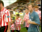 Lincs Lincoln Shearer onto pitch to play in friendly match v Lincoln City