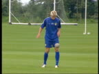 Alan Smith charged over bottle incident ITN Smith playing keepieuppie as training with Leeds United