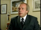 Alan Smith dropped from England squad ITN Gordon Taylor interview SOT