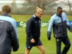 Alan Smith dropped from England squad ITN England players training CMS Chelsea and England defender John Terry MS Real Madrid and England player...