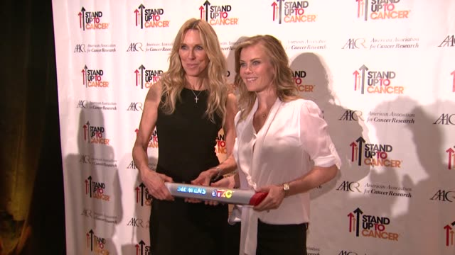 Alana Stewart Alison Sweeney at Stand Up To Cancer Press Event At The AACR Annual Meeting in San Diego CA