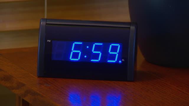 Alarm clock going off at 7 AM