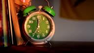 alarm clock ringing at 7 o'clock