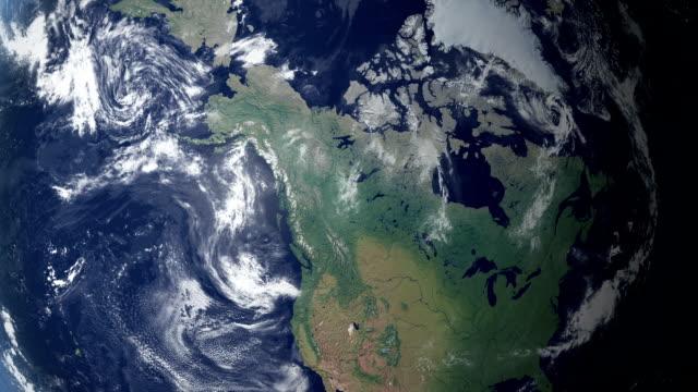 Alaska  pops up after earth zoom  USA. (with alpha matte)