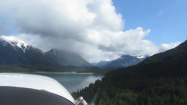 Alaska view with sea plane