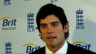Alastair Cook interview on taking on England captaincy role ENGLAND London Lord's INT Alastair Cook press conference SOT There a couple of emotiond /...