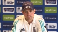 Leeds Headingley INT Alastair Cook press conference SOT