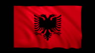 Albania Flag Loopable alpha included - Stock video