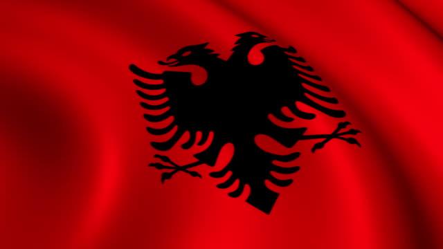 Vlag van Albanië loopbare