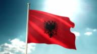Albania Flag sky