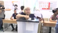 Albanians cast their ballots for parliamentary election at a polling station in Tirana Albania on June 25 2017 Albania's electorate heads to the...