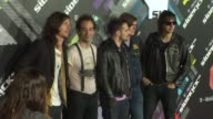 Albert Hammond Jr Fabrizio Moretti Nikolai Fraiture and Julian Casablancas of The Strokes at the TMobile Sidekick 4G Launch at Beverly Hills CA