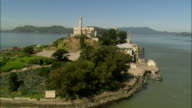 AERIAL Alcatraz island / California, USA