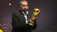 Alcides Ghiggia the last surviving member of Uruguay 1950 World Cup winning team says luck is important as the World Cup trophy arrives in Montevideo...