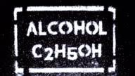 alcohol inscription