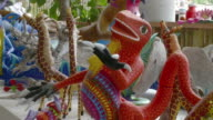 MS Alebrijes - brightly-colored Mexican folk art sculptures of fantastical creatures / Oaxaca, Mexico