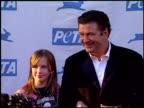 Alec Baldwin and daughter Ireland BaldwinBasinger at the PeTA's 25th Anniversary Gala And Humanitarian Awards Show at Paramount Studios in Hollywood...