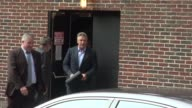 Alec Baldwin exits the 'Late Show with David Letterman' studio in New York NY on 9/12/13