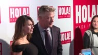 Alec Baldwin Hilaria Baldwin at ¡HOLA USA Launch Event at Porcelanosa on September 29 2016 in New York City