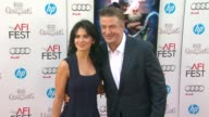 Alec Baldwin Hilaria Thomas at AFI Fest 2012 Rise of the Guardians Gala Screening on 11/4/2012 in Hollywood CA