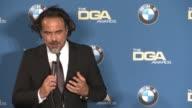 INTERVIEW Alejandro G Iñárritu at 68th Annual Directors Guild Of America Awards in Los Angeles CA