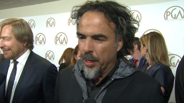 INTERVIEW Alejandro Gonzalez Inarritu on Birdman being nominated on the importance of this awards show at 26th Annual Producers Guild Awards in Los...