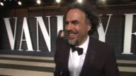 INTERVIEW Alejandro González Iñárritu at the 2015 Vanity Fair Oscar Party Hosted By Graydon Carter at the Wallis Annenberg Center for the Performing...