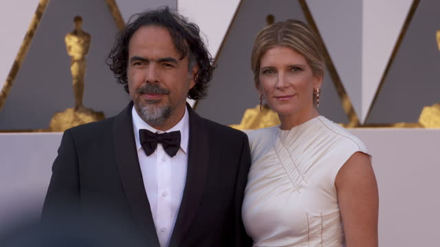 Alejandro Inarritu and Maria Eladia Hagerman at 88th Annual Academy Awards Arrivals at Hollywood Highland Center on February 28 2016 in Hollywood...