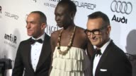 Alek Wek at the amfAR's Inspiration Gala Los Angeles at Los Angeles CA