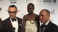 Alek Wek on being a part of the evening what she's most looking forward to at the amfAR's Inspiration Gala Los Angeles at Los Angeles CA