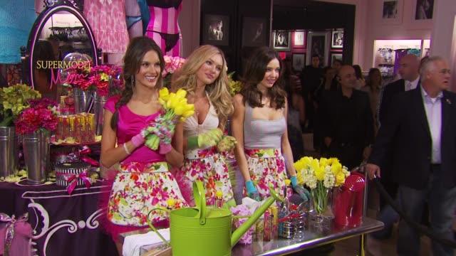 Alessandra Ambrosio Candice Swanepoel and Miranda Kerr at the Victoria's Secret Beauty Heavenly Flowers Launch at New York NY