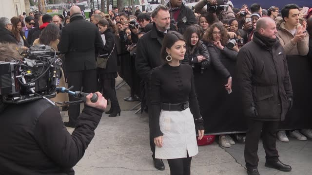 Alessandra Mastronardi arrives at the Chanel show as part of the Paris Fashion Week Womenswear Fall/Winter 2017/2018 on March 7 2017 in Paris France