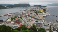 Alesund, view over the town from mountain Aksla