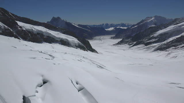 Aletsch Glacier, Jungfraujoch, Bernese Alps, Switzerland, Europe