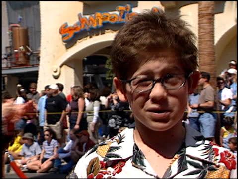 Alex D Linz at the 'Spy Kids' Premiere at Disney's California Adventure in Anaheim California on March 18 2001