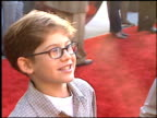 Alex D Linz at the 'Titan' AE Premiere at Staples Center in Los Angeles California on June 13 2000