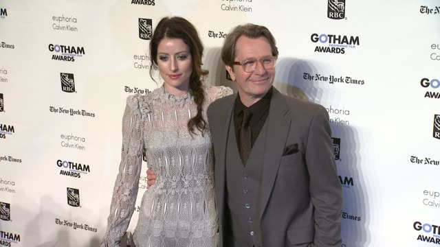 Alex Edenborough and Gary Oldman at the IFP's 21st Annual Gotham Independent Film Awards Red Carpet at New York NY