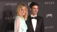 Alex Greenwald and Brie Larson at 2016 LACMA Art Film Gala Honoring Robert Irwin And Kathryn Bigelow Presented By Gucci at LACMA on October 29 2016...
