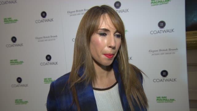 INTERVIEW Alex Jones on her friend having cancer at Coatwalk runway fashion show