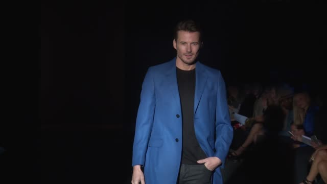Alex Lundqvist walks the runway at Blue Jacket Fashion Show at Pier 59 on February 01 2017 in New York City