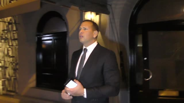 INTERVIEW Alex Rodriguez on the Dodgers in the World Series outside Craig's in West Hollywood at Celebrity Sightings in Los Angeles on October 20...