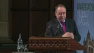 Alex Salmond receives honorary degree Salmond speech SOT Adam Smith influence / talks of Barack Obama's comments about the empathy deficit / talks of...