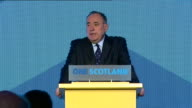 Alex Salmond responding to independence referendum outcome