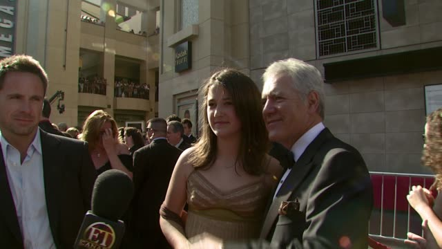 Alex Trebek and his daughter Emily at the 2007 Daytime Emmy Awards at the Kodak Theatre in Hollywood California on June 15 2007