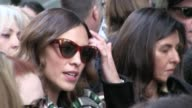 Alexa Chung Naomie Harris and more at the Calvin Klein Ready To Wear fall winter 2017 fashion show in New York City New York City NY USA on Friday...