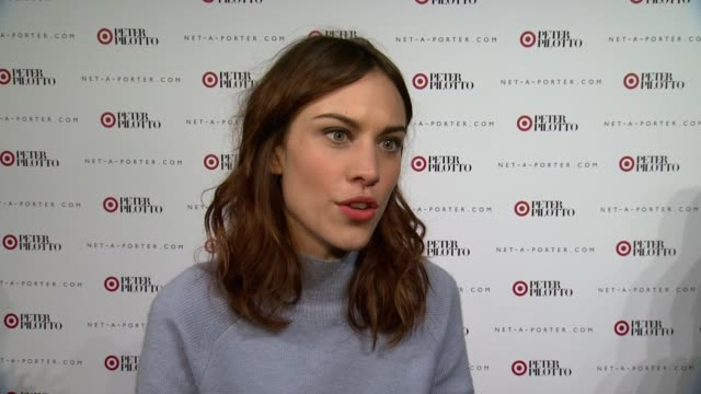 INTERVIEW Alexa Chung on what brings her out tonight On why she loves Target collaborations On looking forward to the Peter Pilotto collection On...