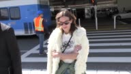 INTERVIEW Alexa Chung talks about meeting Kate Middleton while arriving at LAX Airport in Los Angeles in Celebrity Sightings in Los Angeles