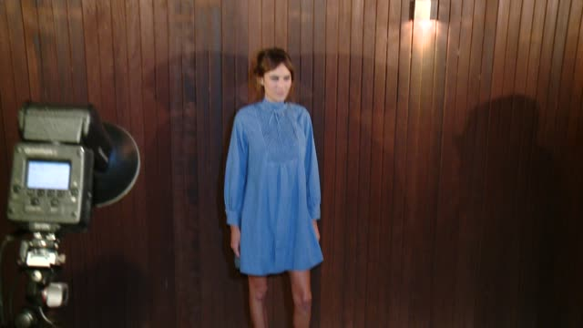 CLEAN Alexa Chung X AG Collection Los Angeles Launchon January 22 2015 in Beverly Hills California