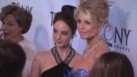 Alexa Ray Joel and Christie Brinkley at the 65th Annual Tony Awards Red Carpet Media Room at New York NY