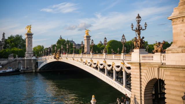 Alexander III Bridge in Paris connecting Champs-Elysees quarter with Les Invalides